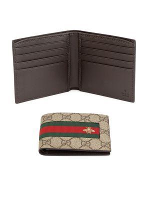 GUCCI GG Supreme Canvas Bi-Fold Wallet