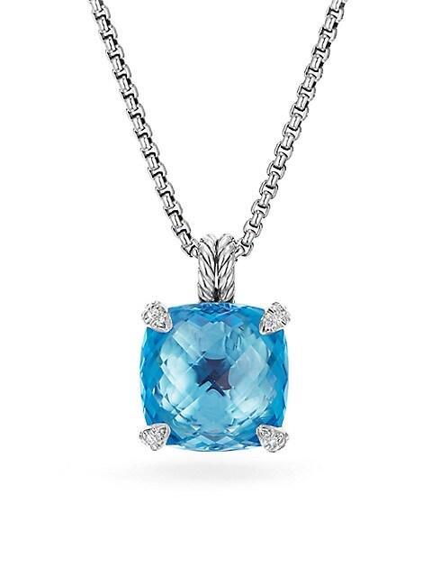 Châtelaine® Pendant Necklace with Gemstone & Diamonds