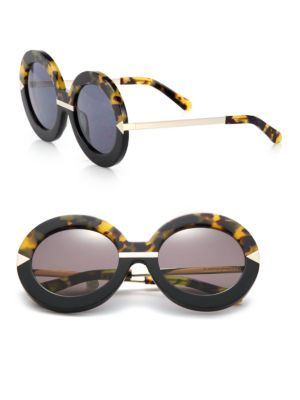 Poolside Hollywood Round Sunglasses