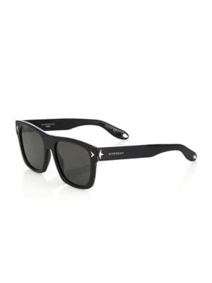 Givenchy Square Acetate Sunglasses, Dark Brown