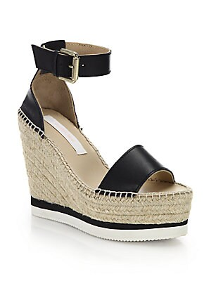 e98238f8c4f See by Chloé - Glyn Leather Espadrille Wedge Platform Sandals