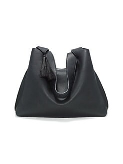 6df96aeb53423 Duplex Pebbled Leather Hobo Bag BLACK. QUICK VIEW. Product image. QUICK VIEW
