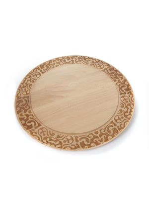 "Image of Artisanal cheese board designed in natural beechwood.0.75""H X 16.5""D.Beechwood. Made in Italy."