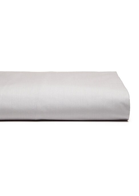 """Image of 200-thread count sheet in versatile pale gray. Queen: 62""""W X 83""""H X 18""""D.King: 81""""W X 83""""H X 18""""D.Cotton. Machine wash. Imported. Please Note: This item cannot be gift wrapped."""