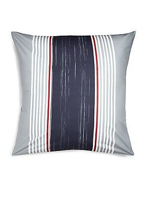 "Image of 200-thread count pillowcase with contrast stripes. 26""W X 26""H Cotton Machine wash Imported Please Note: This item cannot be gift wrapped. Gifts - Bed And Bath. Sonia Rykiel Paris."
