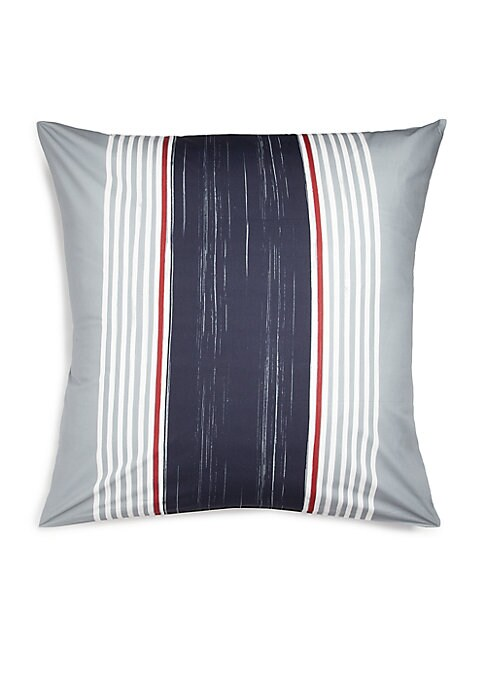 """Image of 200-thread count pillowcase with contrast stripes.26""""W X 26""""H.Cotton. Machine wash. Imported. Please Note: This item cannot be gift wrapped."""