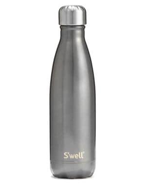 S'WELL Smoky Eye Glitter Water Bottle/17 Oz. in Smokey Eye