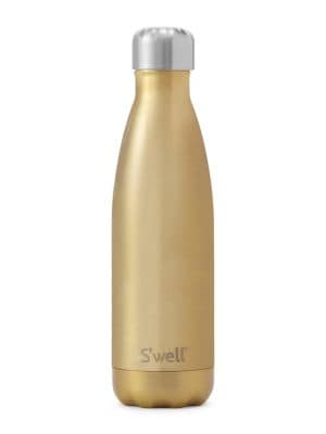 S'WELL Glitter Thermal Stainless Steel Water Bottle in Sparkling Champagne