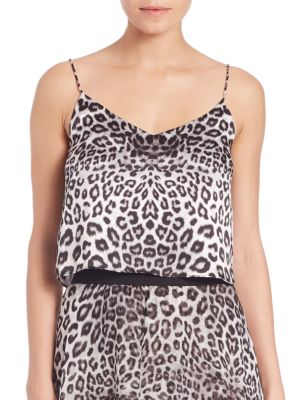 Cropped Silk Camisole by Marie France Van Damme