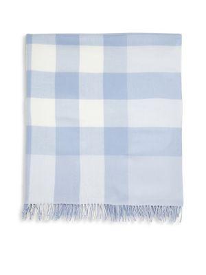Mega Check Merino Wool Baby Blanket