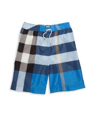 Boys Mini Jeffries Check Swim Trunks