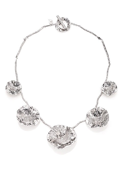 """Image of From the Serenity Collection. Abstract floral design set with shimmering full-cut diamonds. Diamonds, 0.96 tcw. Sterling silver. Length, 16"""".Toggle clasp. Imported."""
