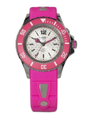 KYBOE! Neon Silicone And Stainless Steel Strap Watch/40Mm in Pink