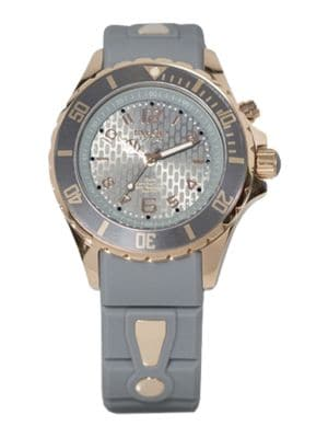 KYBOE! Power Grey Silicone & Rose Goldtone Stainless Steel Strap Watch/40Mm in Grey Rose Gold