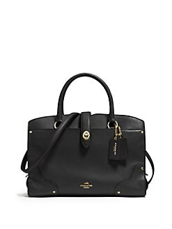 COACH Mercer 30 Grained Leather Satchel