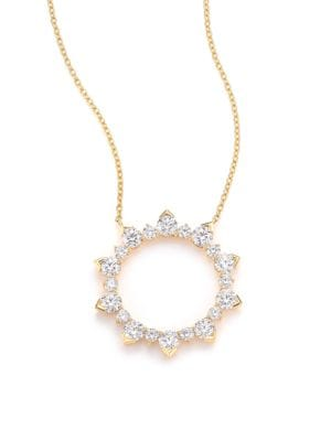 HEARTS ON FIRE Aerial Diamond & 18K Yellow Gold Eclipse Pendant Necklace