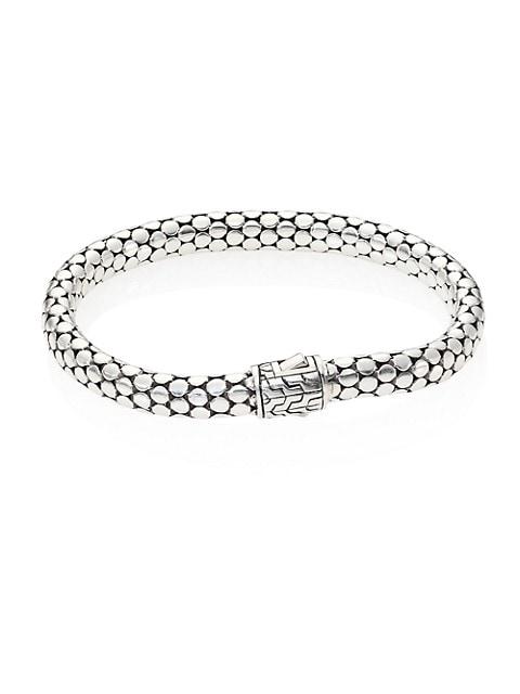 Dot Sterling Silver Small Chain Bracelet