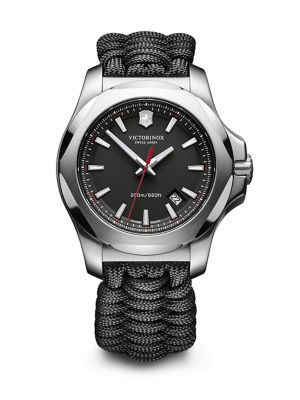 Victorinox Swiss Army I.N.O.X. Black Paracord Strap Watch