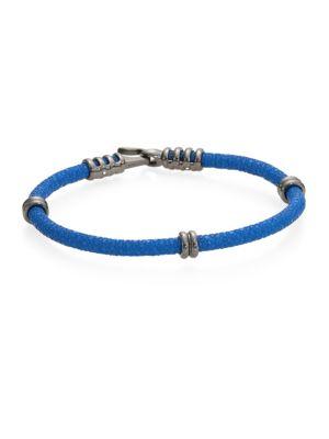 STINGHD Handcrafted High-End Stingray Bracelet in Cobalt Blue