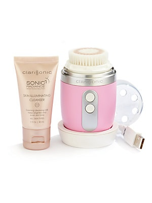 Image of New to Clarisonic - Beautiful skin in the palm of your hand. Get cleaner, smoother skin on-the-go. The compact, lightweight and waterproof design of this sonic cleansing device gives you smooth, more radiant skin. Two speed settings, Delicate and Power Cl