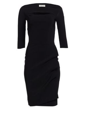 LA PETITE ROBE DI CHIARA BONI Kate Boatneck Dress in Black
