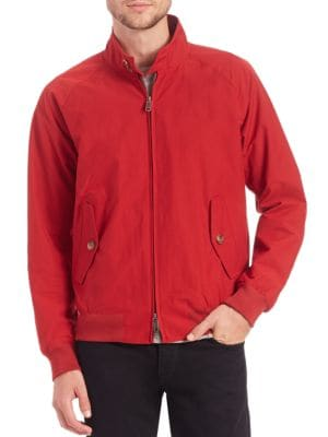 Image of Lightweight essential for stormy weather protection. Stand collar. Raglan long sleeves. Two-way zip front. Front buttoned flap pockets. Ribbed cuffs and hem. Vented back yoke. Lined. Cotton/polyester. Machine wash. Imported.