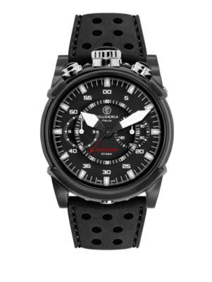 CT SCUDERIA Coda Corta Stainless Steel Watch in Black