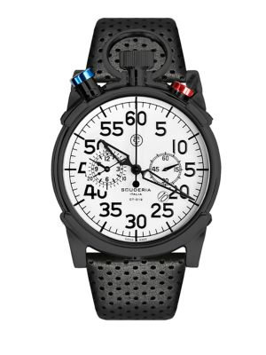 CT SCUDERIA Corsa Stainless Steel Watch in Black