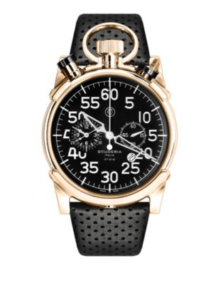 CT SCUDERIA Corsa Rose Gold Ip Stainless Steel Watch in Black