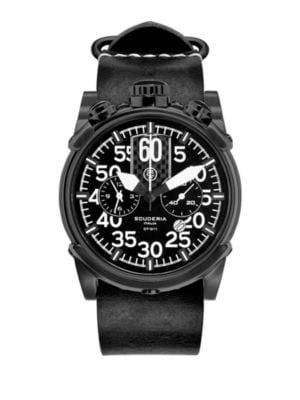 CT SCUDERIA Saturno Stainless Steel Watch in Black