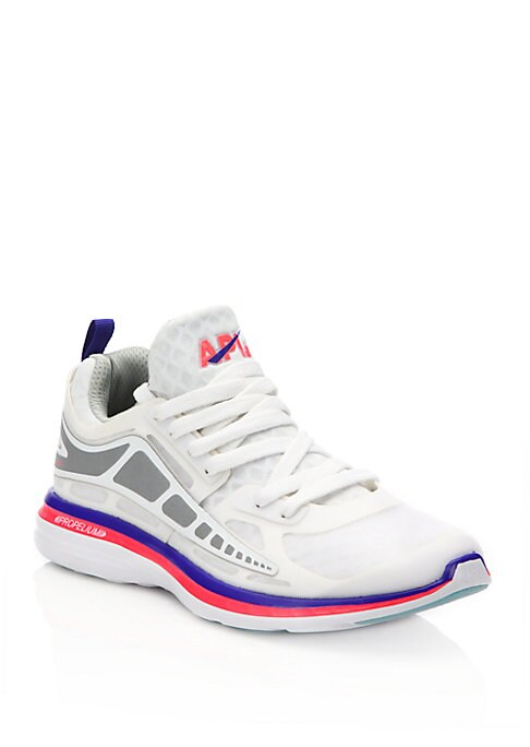 Image of Breathable mesh sneaker with 360 degrees of reflectivity. Nylon mesh and reflective TPU upper. Lace-up vamp. Polyester lining. Propelium EVA sole. Padded insole. Imported.