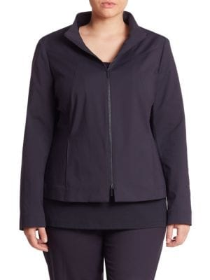 Laura Zip-Up Jacket plus size,  plus size fashion plus size appare