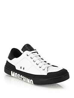Moschino - Clean Logo Sole Leather Sneakers