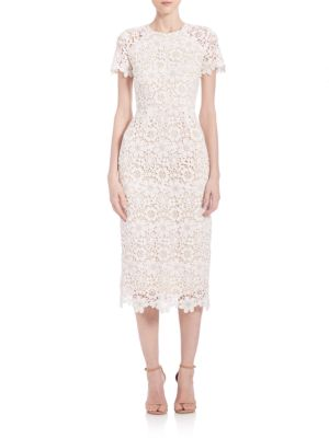 Buy Shoshanna Guipure Lace Midi Dress online with Australia wide shipping