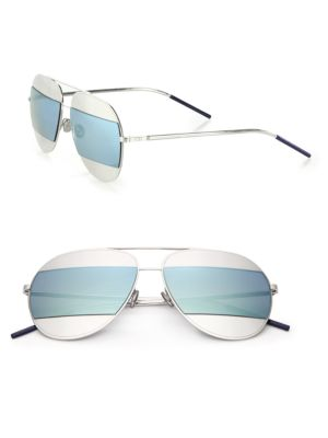Split1 59MM Metal Aviator Sunglasses