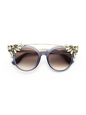 7564dd260122a Jimmy Choo - Vivy 51MM Crystal-Embellished Cats-Eye Sunglasses - saks.com