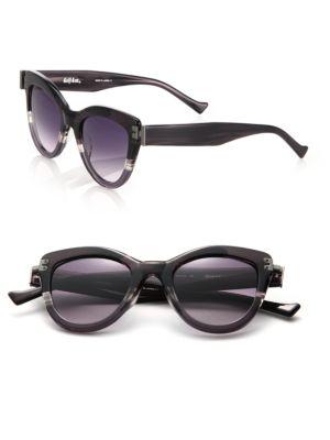 Diskov 49Mm Cat Eye Sunglasses, Dark Grey