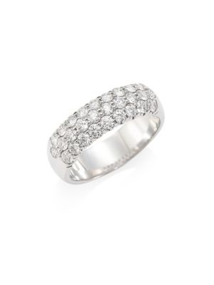 HEARTS ON FIRE Diamond & 18K White Gold Ring