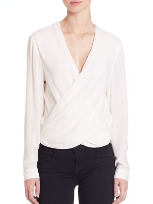 Silk Snap-Back Blouse by L'AGENCE