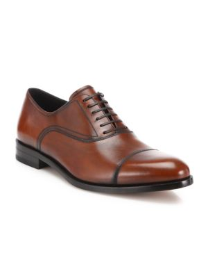 Guru Cap Toe Burnished Leather Oxfords
