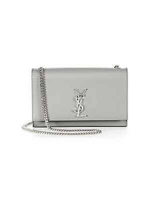 5ba34a11fa3c Saint Laurent - Medium Kate Grained Leather Chain Shoulder Bag