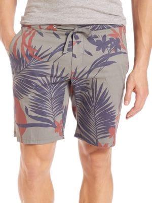 Eleventy Cottons Flower-Print Bermuda Shorts
