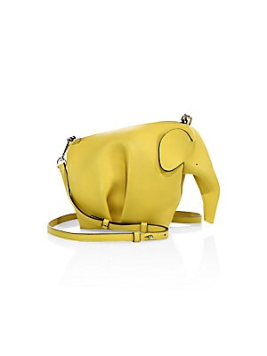 a3279e371c Loewe - Mini Leather Elephant Crossbody Bag - saks.com