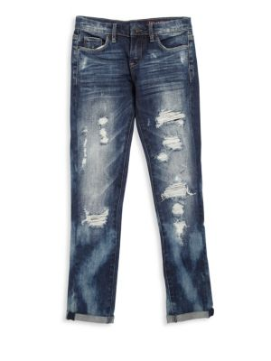 Girl's Fit Of Rage Distressed Jeans