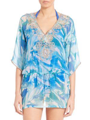 Embellished Printed Caftan plus size,  plus size fashion plus size appare