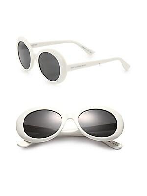 843099991e8 Saint Laurent - SL 98 California 53MM Oversized Oval Sunglasses - saks.com