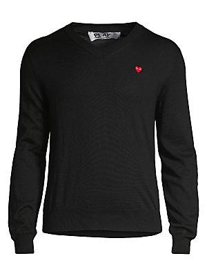de43df9c2f Comme des Garcons Play - Play V-Neck Cotton Sweater