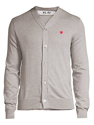 e4bbd9690f74 Comme des Garcons Play - White Heart V-Neck Sweater - saks.com