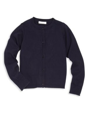 Image of Cardigan with ribbed hem and cuffs for a snug fit. Crewneck. Long sleeves. Full button placket. Cotton. Machine wash. Imported.