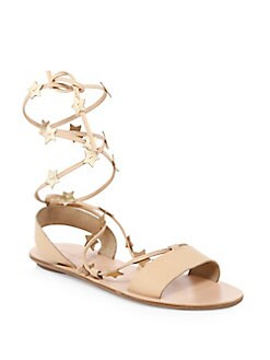 ab5ae2128558 Loeffler Randall Starla Star-Detail Leather Lace-Up Sandals from ...